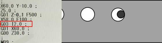 G03とIで円弧加工2