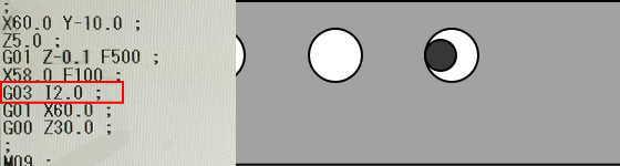 G03とIで円弧加工4