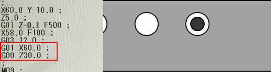 G03とIで円弧加工5