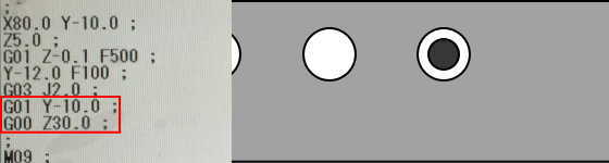 G03とJで円弧加工