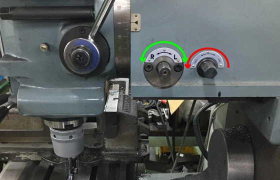 汎用フライス盤右側面