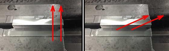 薄板加工する時の刃物の向き