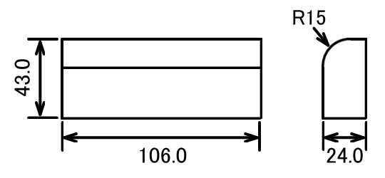 ボールエンドミル加工図面
