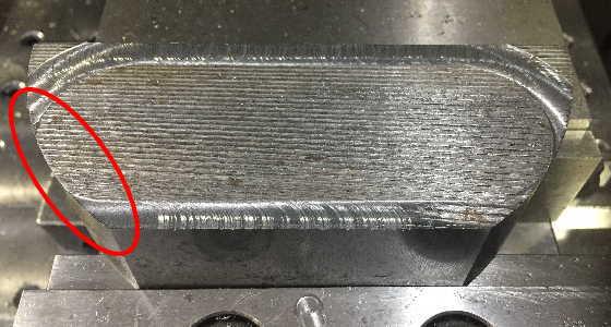 端材で削り残しの確認