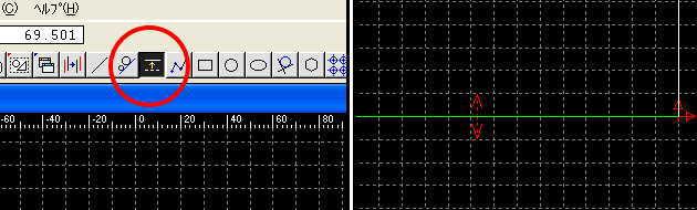 cad 平行線の描き方