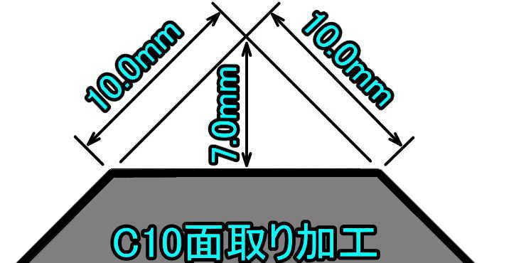 C10面取り加工の説明