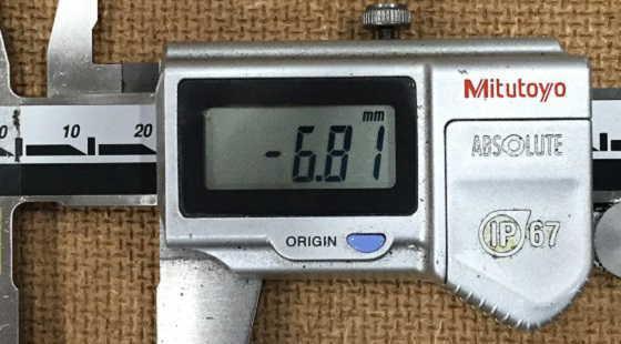 M6スパイラルタップ加工寸法