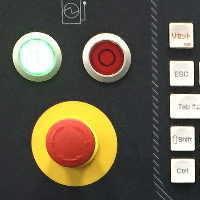 工作機械電源ボタン