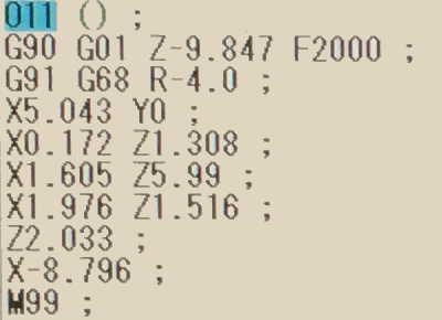 座標回転を使った特殊面取りNCサブプログラム