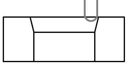 片角15度面取り加工加工終了位置