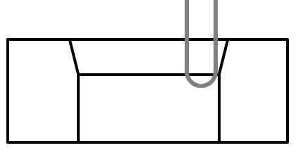 片角15度面取り加工加工開始位置