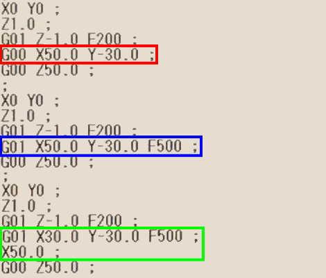 G00とG01の違い比較