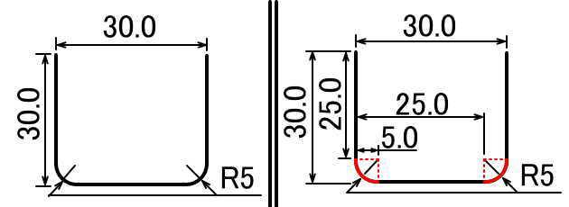 G02G03説明の説明に必要な数値に説明