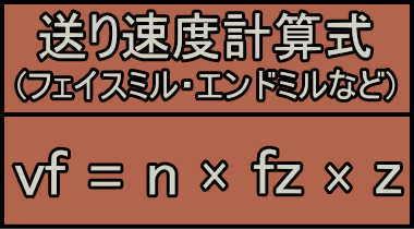 フェイスミル・エンドミル送り速度計算式