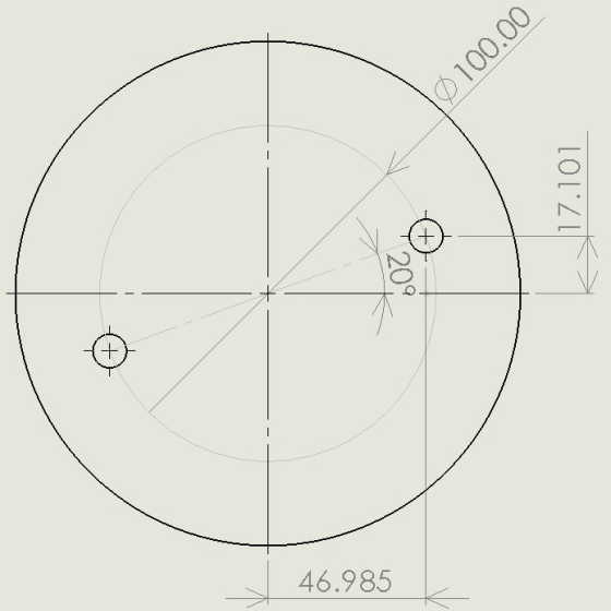 フライス穴位置計算サンプル