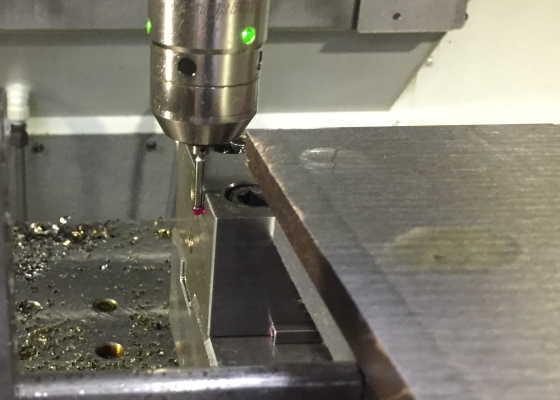 バイス側面で加工原点設定