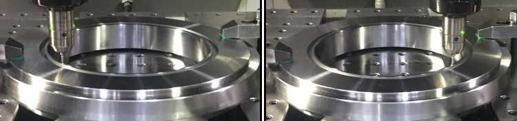 円中心点計測機能で3カ所測定