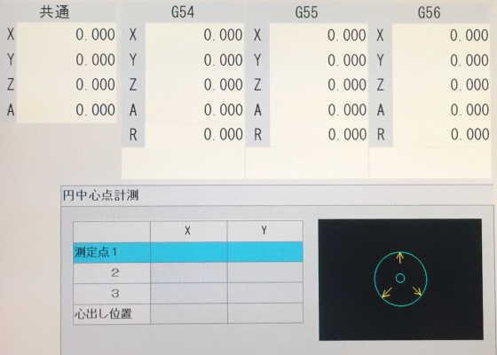円中心点計測機能