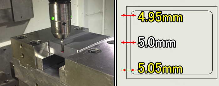 原点から少し離れた位置で加工原点を取った場合の寸法