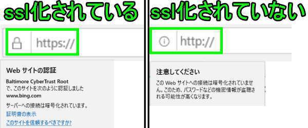 ssl化の違い比較(Microsoft Edge)2