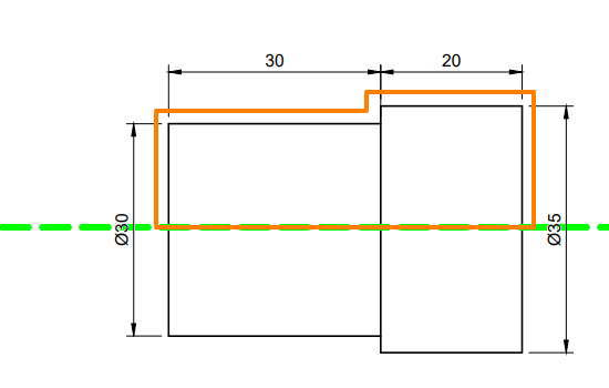 3DCADで回転を使うときは半分をスケッチ