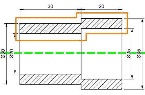 Fusion360回転に使うスケッチの説明