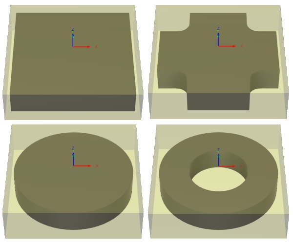 ボックス形状の材料設定