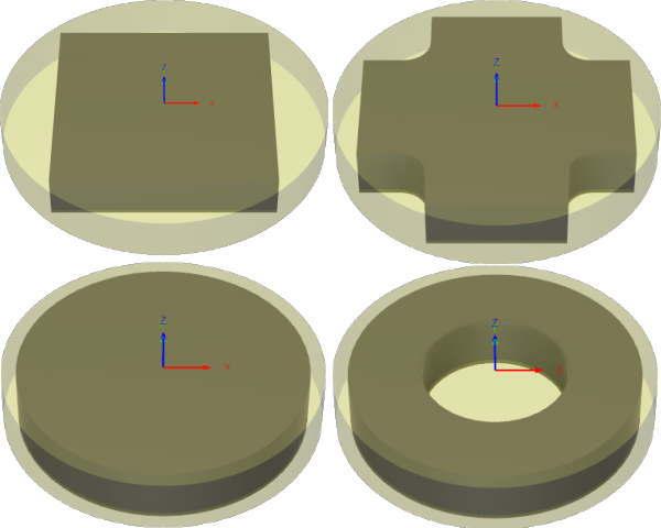 3D CAD FUSION360円柱形状のストック設定