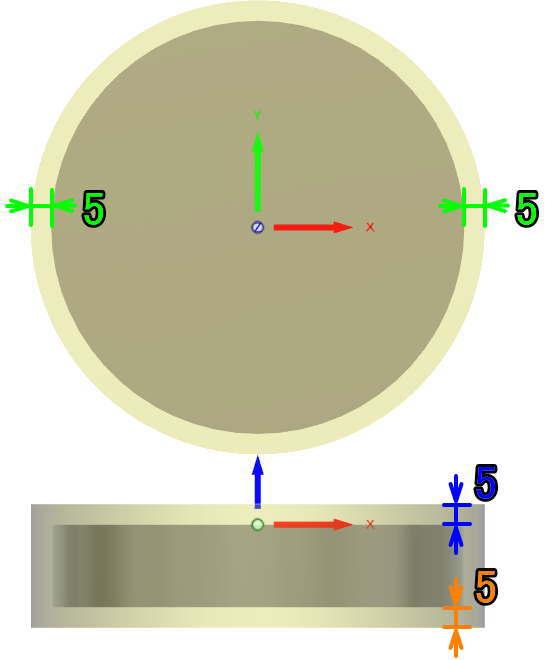 3D CAD FUSION360相対サイズ円柱の説明