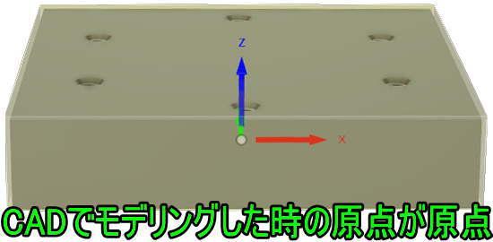 CAMでモデリング原点の設定