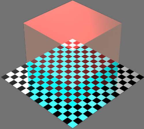 レンダリングの外観ガラスの反射カラー変更後
