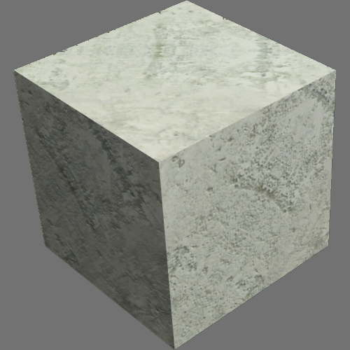レンダリングの外観コンクリート適当に編集して適用