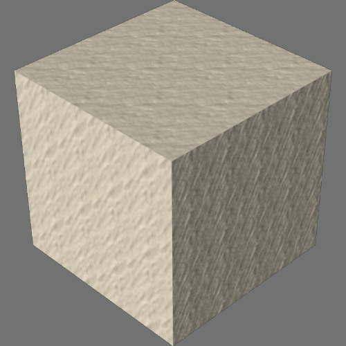 レンダリングの外観砂適当に編集して適用
