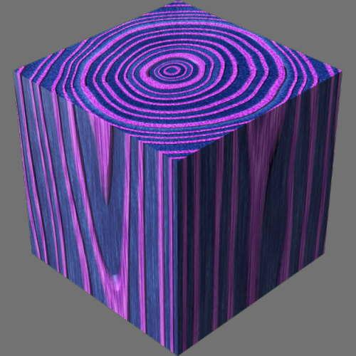 レンダリングの外観3D Oak適当に編集して適用