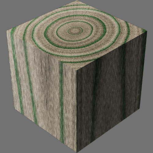 レンダリングの外観3D Pine適当に編集して適用