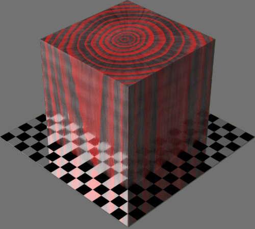 レンダリングの外観3D Walnut適当に編集して適用