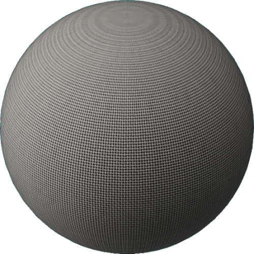 3DCADモデリングの外観をファブリック球体