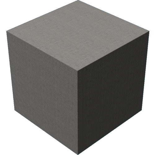 3DCADモデリングの外観をファブリック直方体
