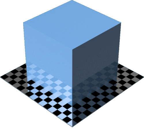 3DCADモデリングの外観をペイントのエナメル光沢に色変更後