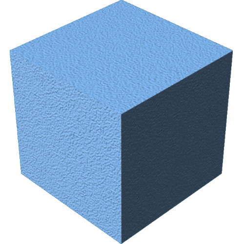3DCADモデリングの外観をペイントのパウダーコート粗いに色変更後