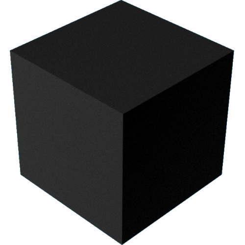 3DCADモデリングの外観をペイントのパウダーコート粗い直方体