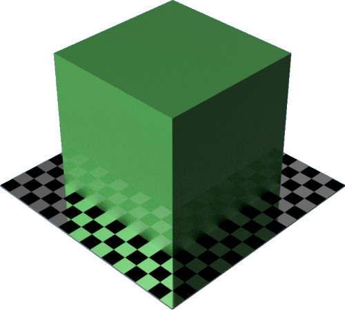 3DCADモデリングの外観をペイントのメタリック直方体
