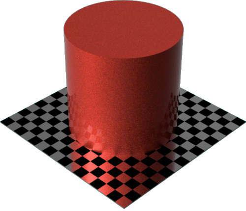 3DCADモデリングの外観をペイントのメタルフレーク円柱