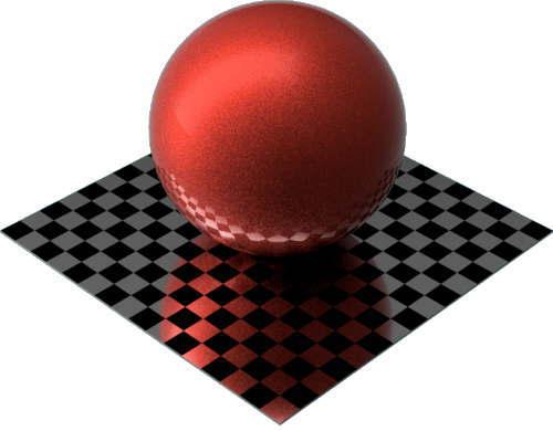 3DCADモデリングの外観をペイントのメタルフレーク球