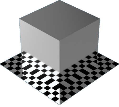 3DCADモデリングの外観をメタルのアルミニウム-つや出し直方体