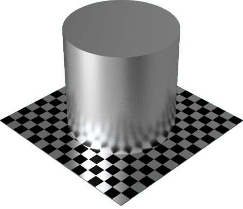 3DCADモデリングの外観をメタルのアルミニウム-サテン円柱