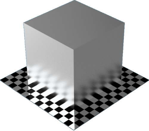 3DCADモデリングの外観をメタルのアルミニウム-サテン直方体