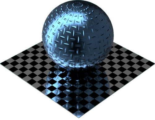 3DCADモデリングの外観をメタルのアルミニウム-ダイヤモンド プレート-1バーに色変更後