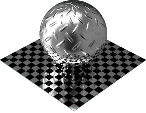 3DCADモデリングの外観をメタルのアルミニウム-ダイヤモンド プレート-1バー球