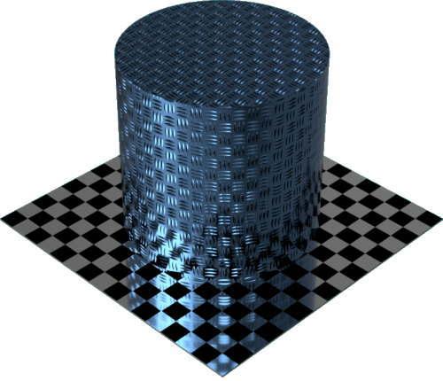 3DCADモデリングの外観をメタルのアルミニウム-ダイヤモンド プレート-3バーに色変更後